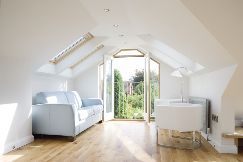 Loft Conversion With Door Bristol Loft Conversions